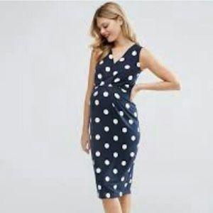 ASOS polka dot maternity dress